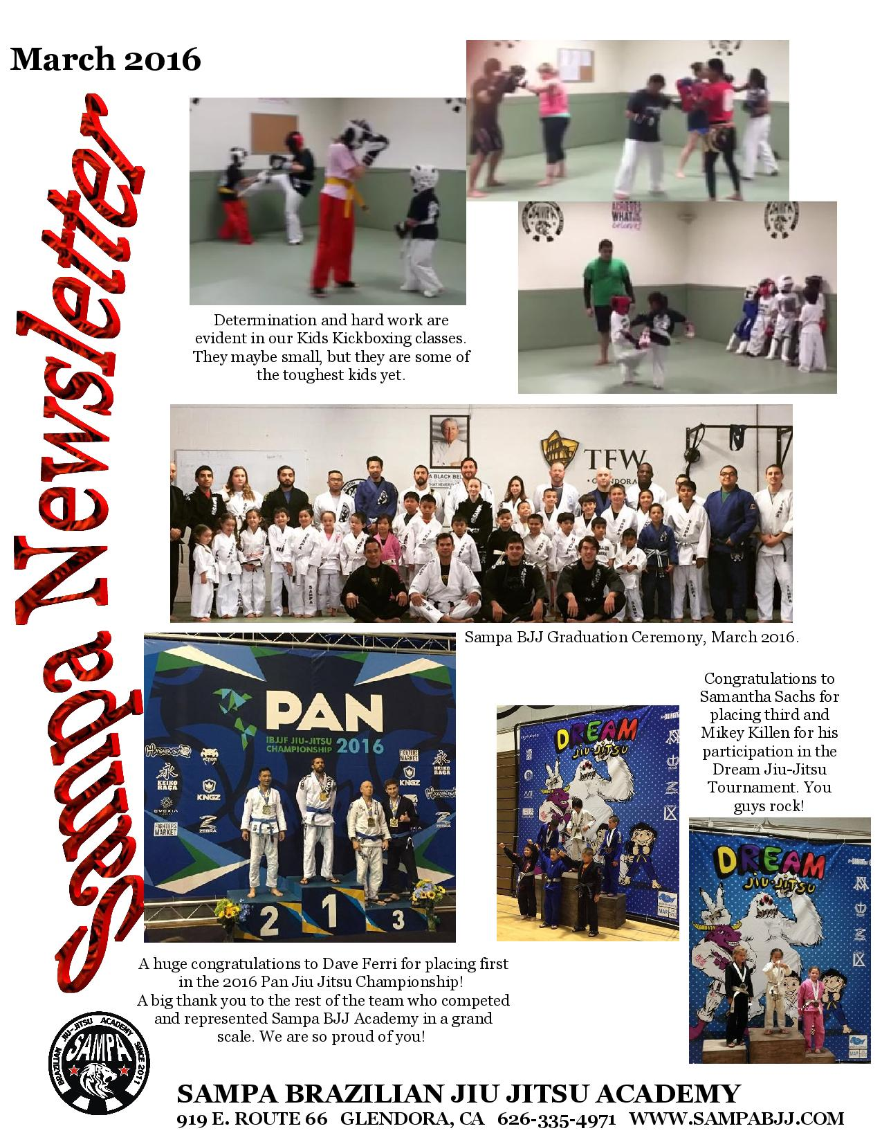 Sampa Mixed Martial Arts Newsletter